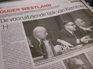 Ouder Westland met het artikel over dr. Kemmers
