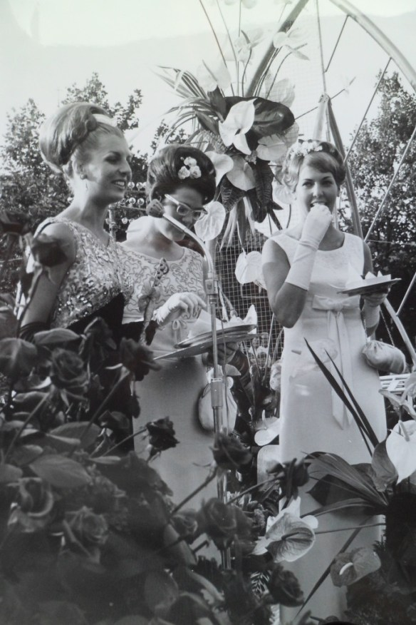 Het druiventrio van 1966 bij de intocht in Naaldwijk.