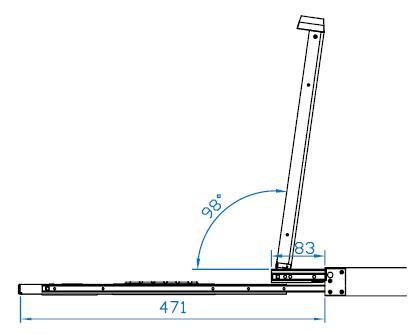 1RU Dual Slide LCD KVM Drawer