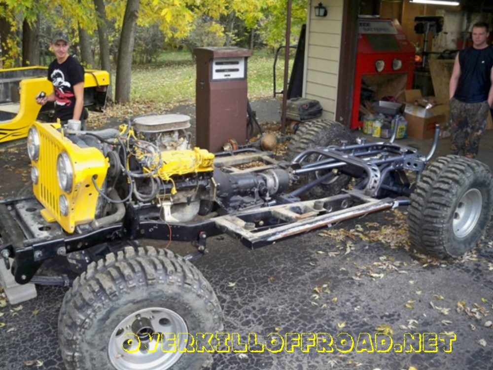 medium resolution of  overkill off road jeep cj7 chassis