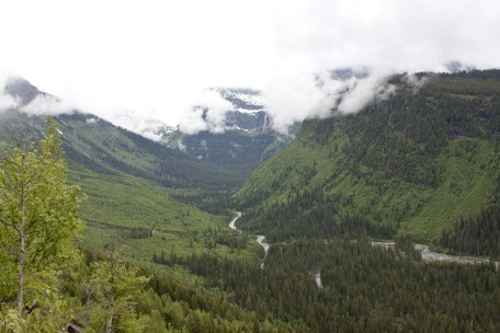 That valley was carved by a Glacier