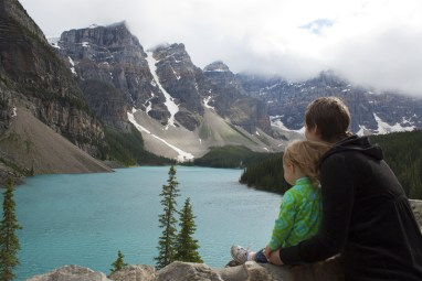 Mother & Daughter Soak in the View