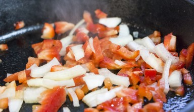 Start with the peppers and onions. The smell will spread and everyone will be after your food!