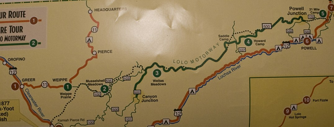 Lolo Trail Map