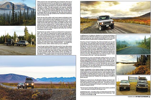 Off Road Plus Magazine – February 2018 Article