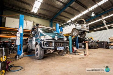 A Vanda foi muito bem tratada pelo pessoal da Delica Garage, na Austrália.