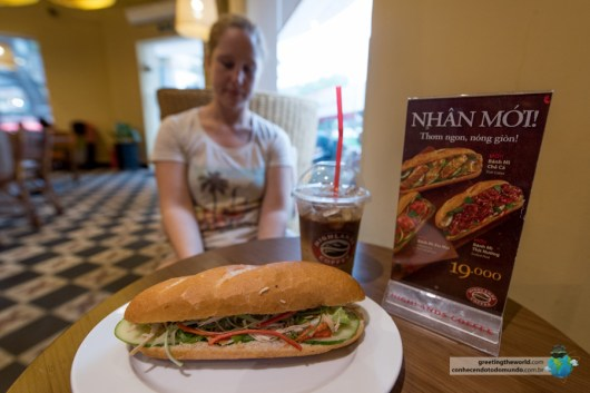 Tasting Banh Mi and Vietnamese coffee in Ho Chi Minh city