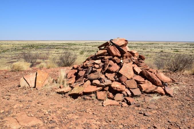 Hilltop stone pile