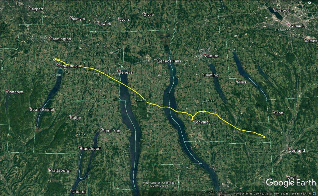 OLHZN-6 Actual Flight Path