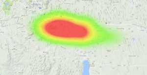 OLHZN-8 Weather Balloon Flight Final Prediction Heatmap