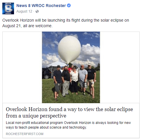 Overlook Horizon found a way to view the solar eclipse from a unique perspective: a weather balloon!