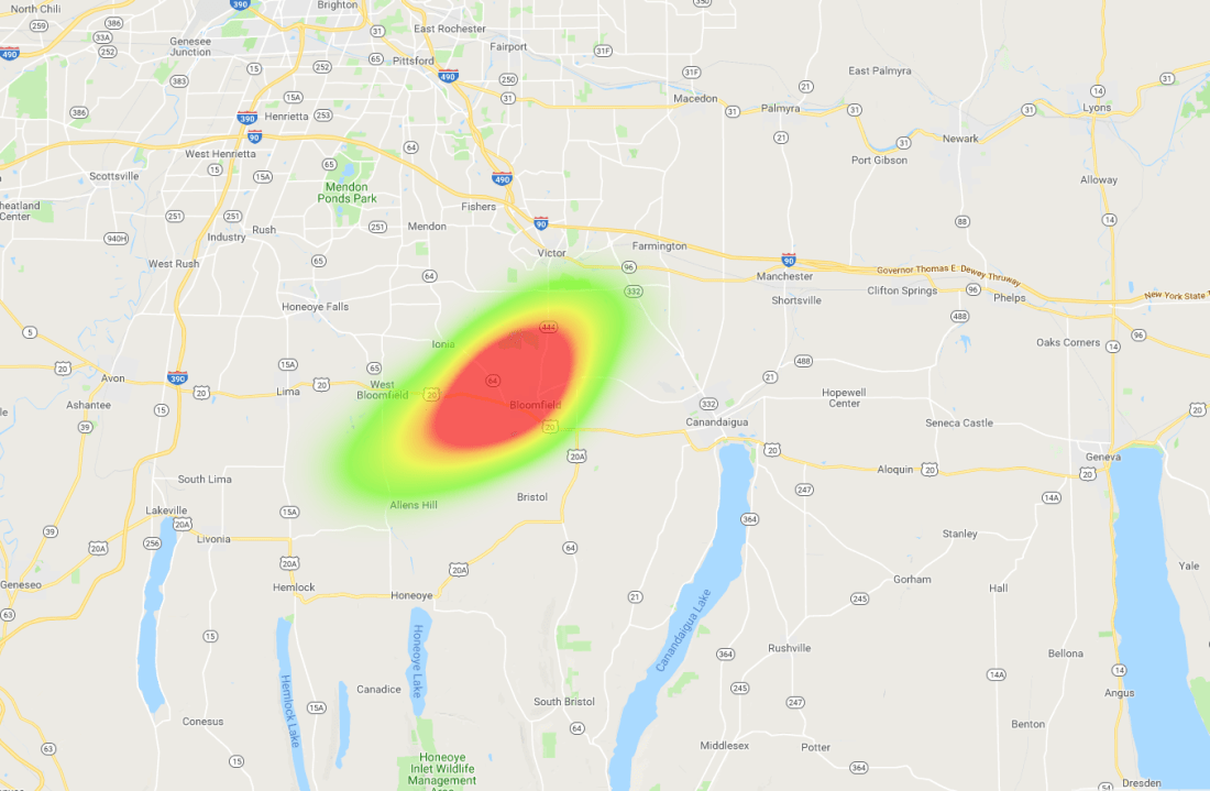 OLHZN-10 Weather Balloon Flight Final Prediction Heat Map