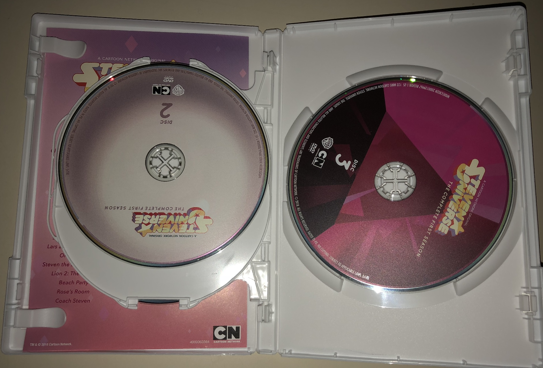 hight resolution of the presentation of the dvd is a major highlight following up on the style cartoon network has previously used for its dvd releases of adventure time