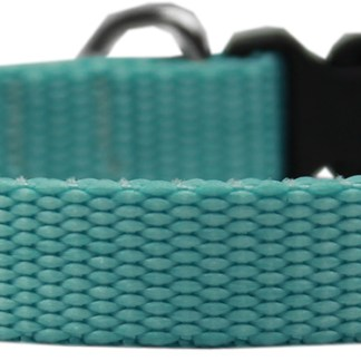 Teal Nylon Pet Collar