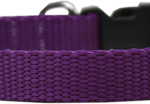 Purple Nylon Collar - Adjustable
