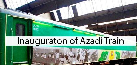 Inauguration of Azadi Train