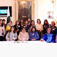The First Lady, Begum Mahmooda Mamnoon Hussain attends UK-APWA Re-Union at the Pakistan High Commission, London