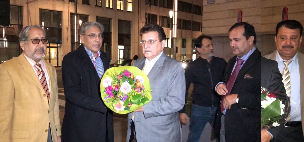 AJK's PM Raja Farooq Haider arrives in Belgium in order to participate in 'Kashmir-EU Week' at EU parliament in Brussels