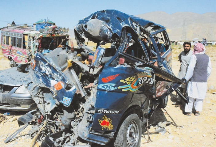 Quetta Accident on Sibi Highway