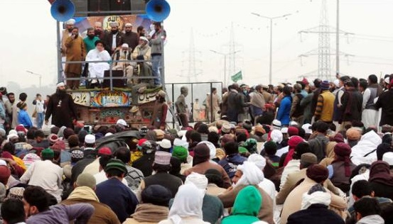 Tehreek e Labaik Protest at Faizabad