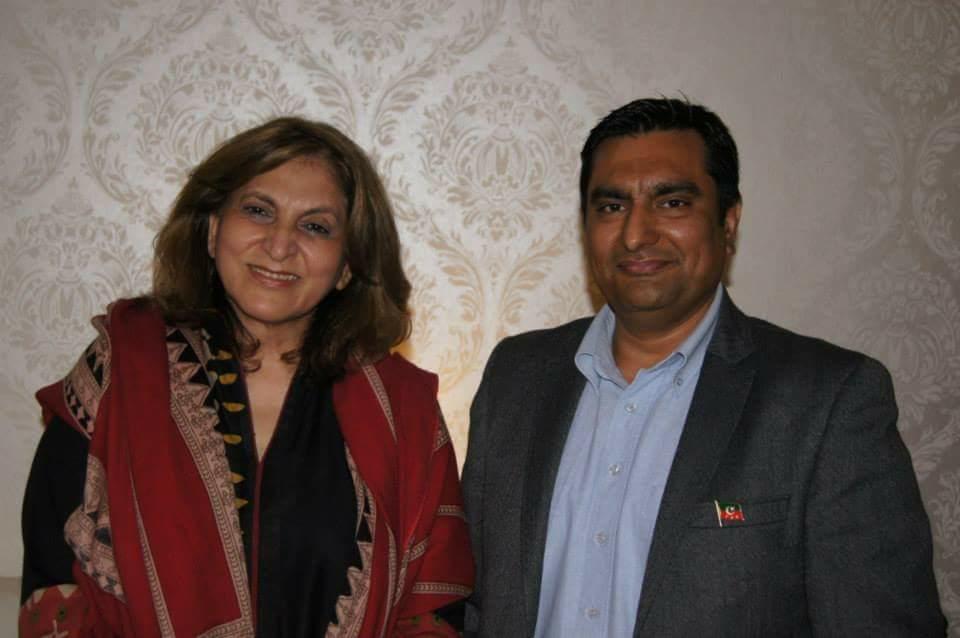 Fauzia Kasuri and Shahid Jamil PTI Norway