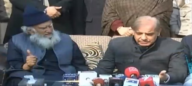 Peer Sialvi and Shehbaz Sharif 25 January 2018