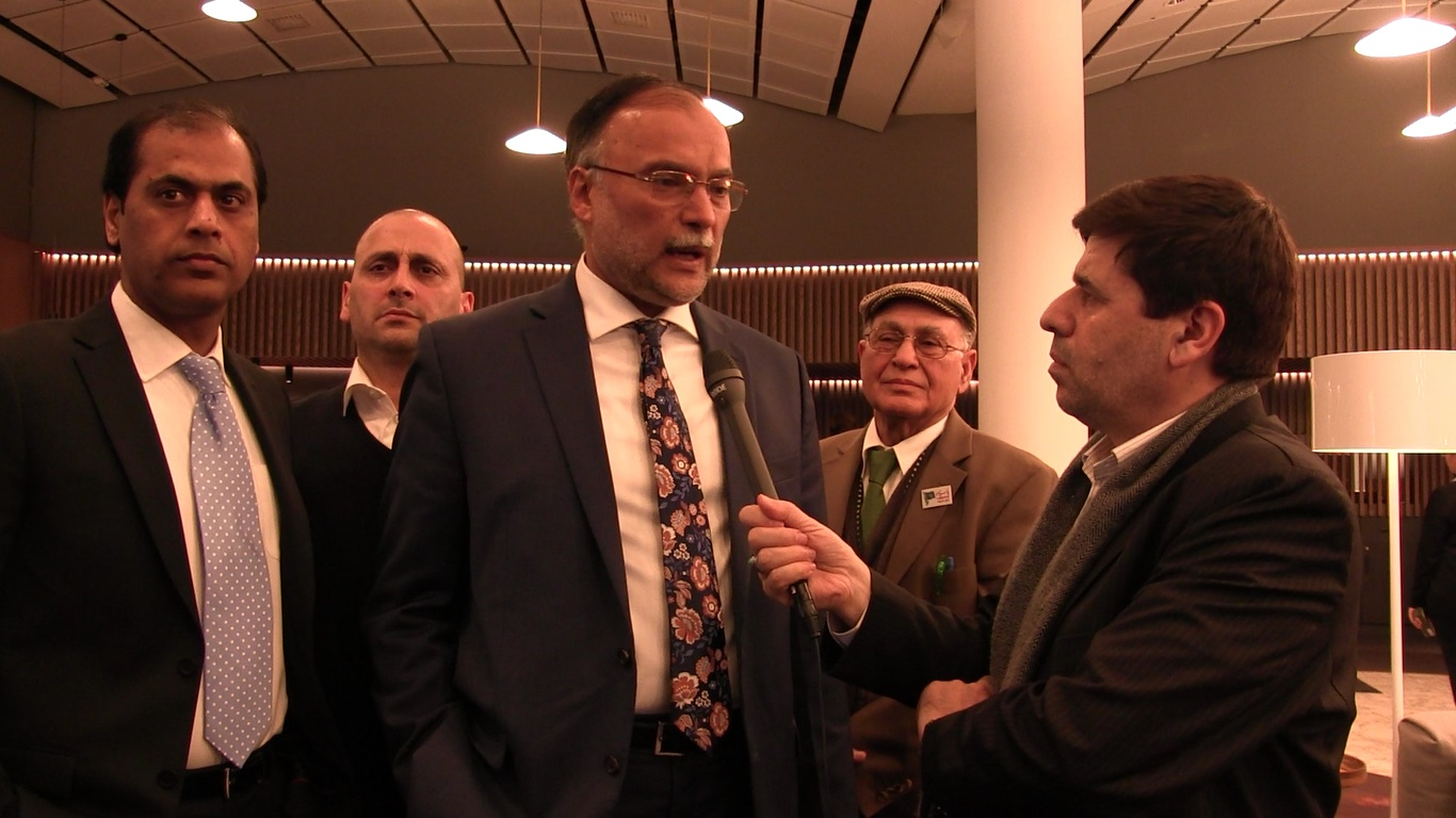 Ahsan Iqbal in Norway - Syed Sibtain Shah