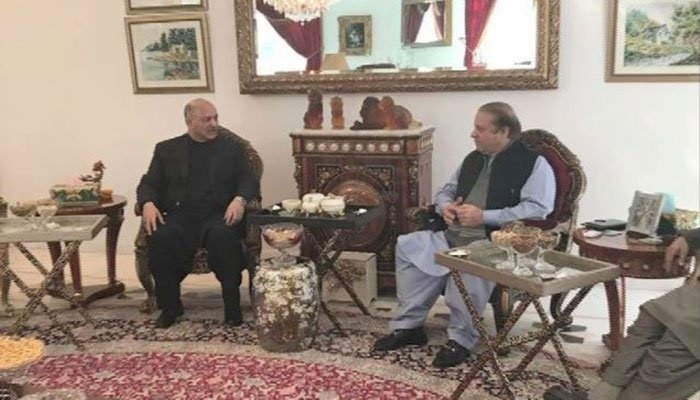 Mushahid Hussain and Nawaz Sharif on 04th February 2018