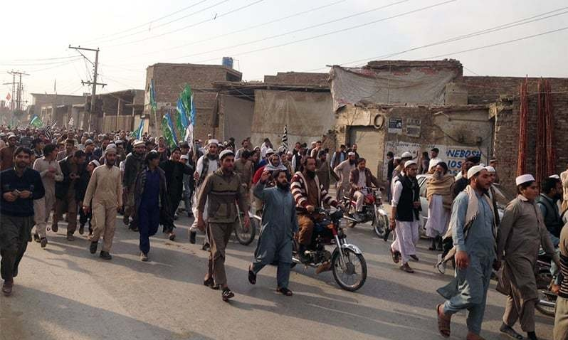 Protest of Religious Parties to release criminals involved in Mashal Khan Murder case