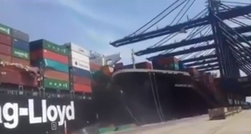 Collision of two ships at Karachi Port