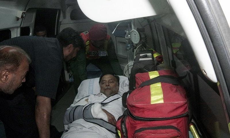 Ahsan Iqbal injured