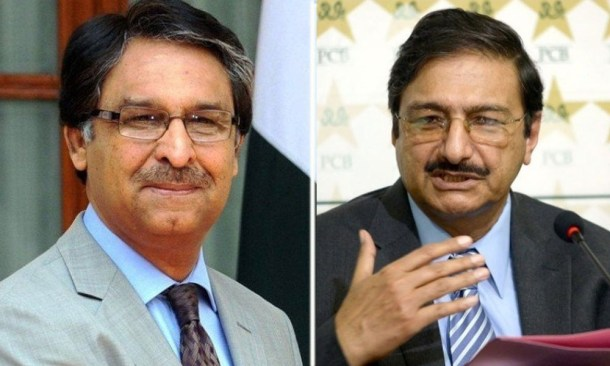 Jalil Abbas and Zaka Ashraf
