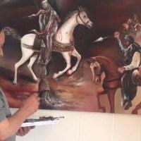 واقعہ کربلا آرٹ کی زبانی،  نارویجن پاکستانی مصور انور علی کاظمی کی تصویر تکمیل کے مراحل میں ہے