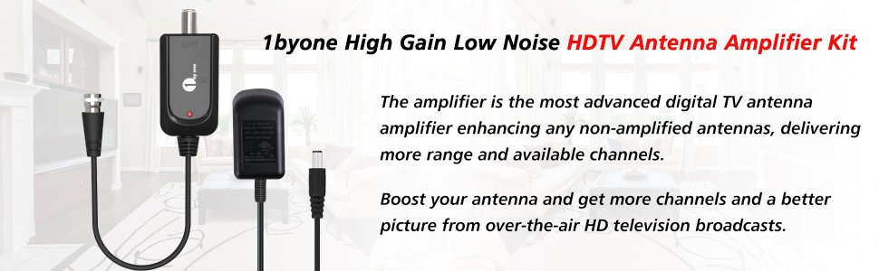 1byone omni directional outdoor antenna amp