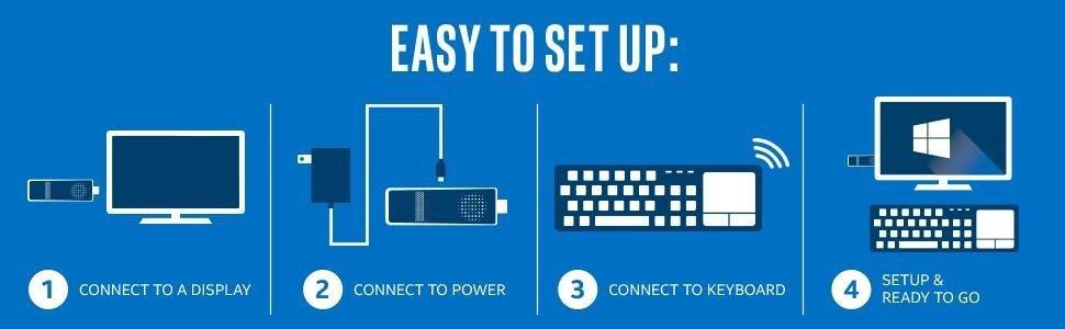 intel computer stick setup