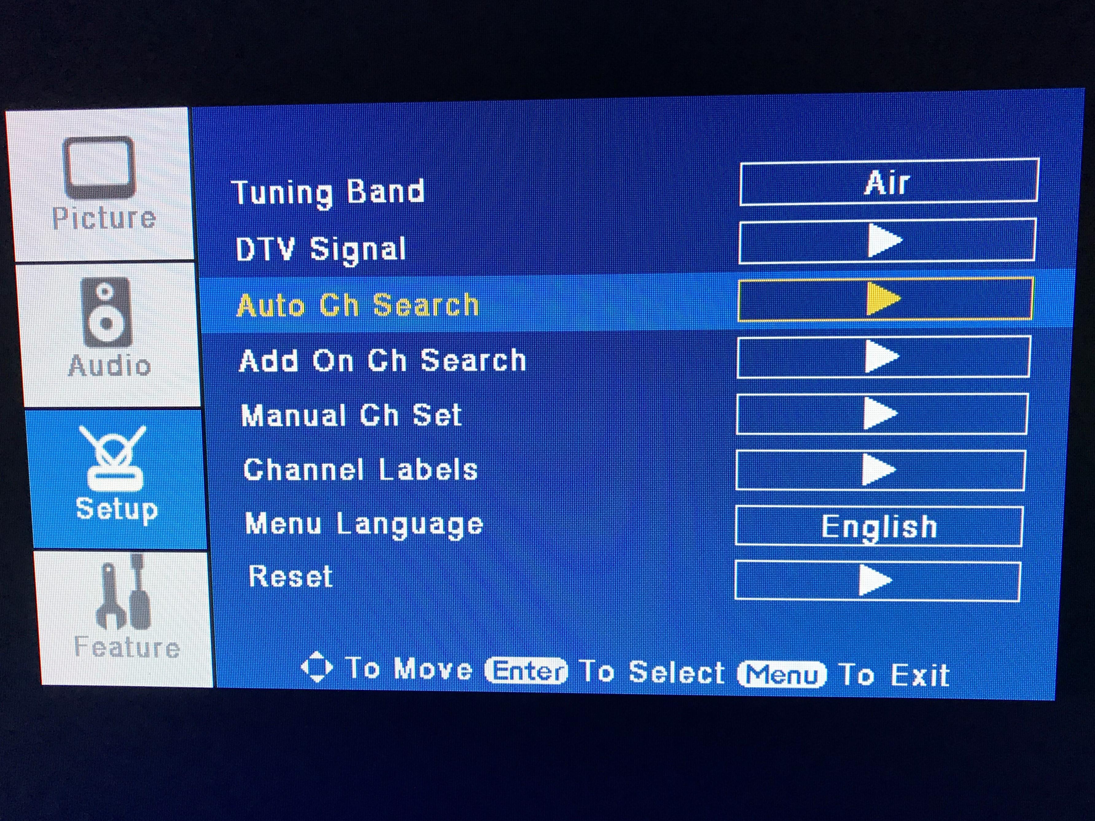 Rescan TV Channels