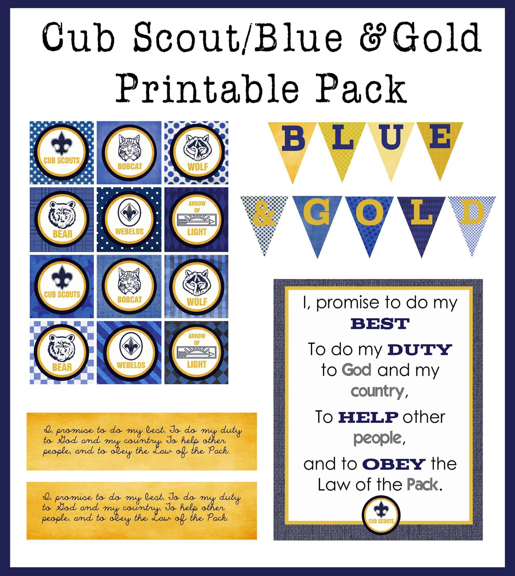 Printable Cub Scout Pinewood Derby Pack Meeting