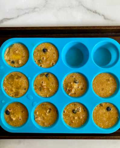 low carb blueberry muffins before cooking
