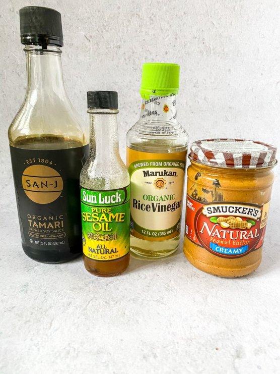 peanut butter soy sauce white vinegar and sesame oil