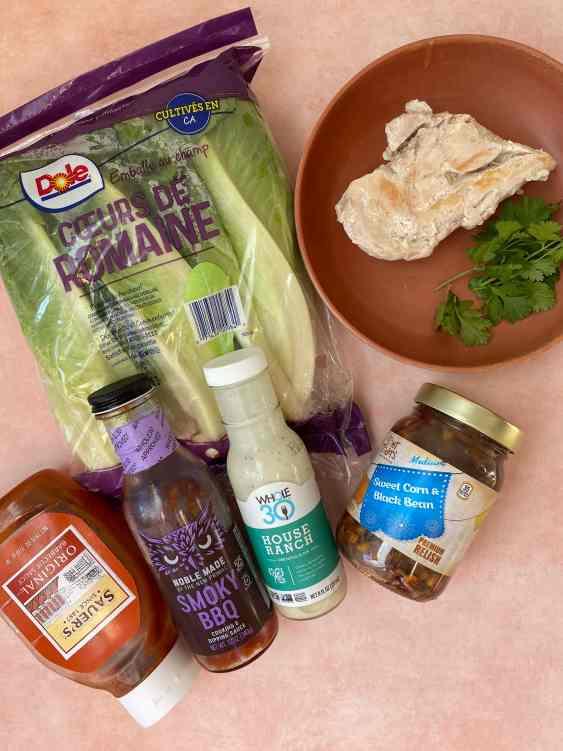 ingredients for panera bbq chicken salad