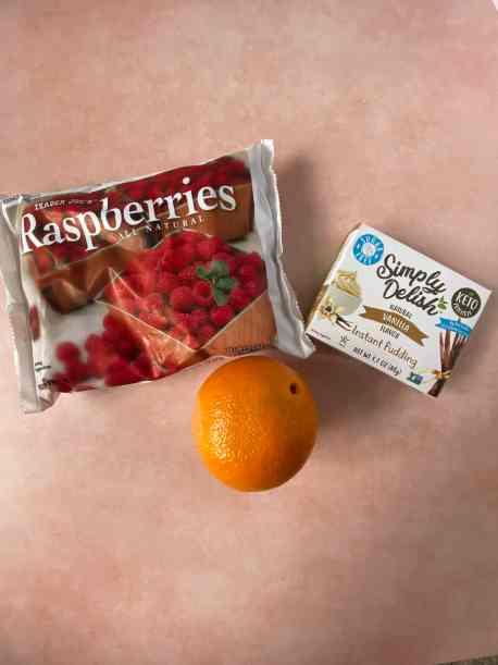 berries, pudding, orange