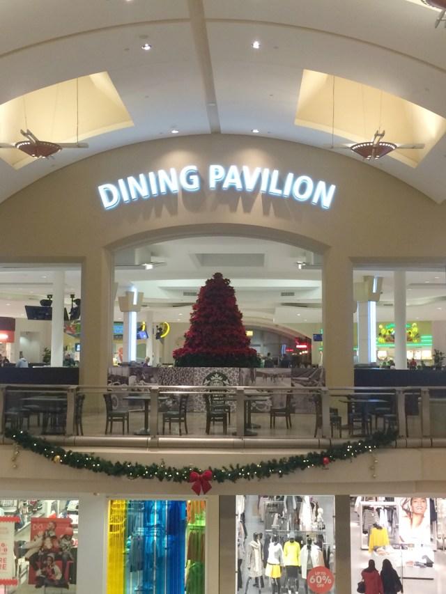 dining pavilion sign