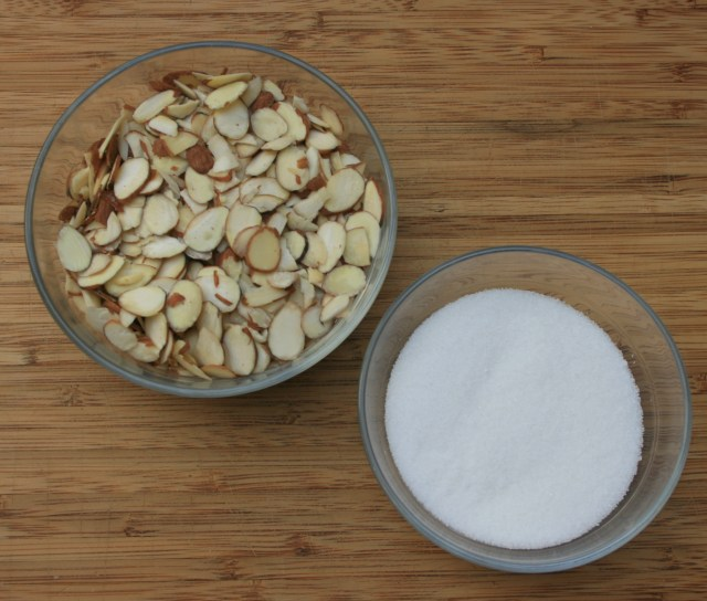 ingredients for the candied almonds #EasyAsPotPie #ad