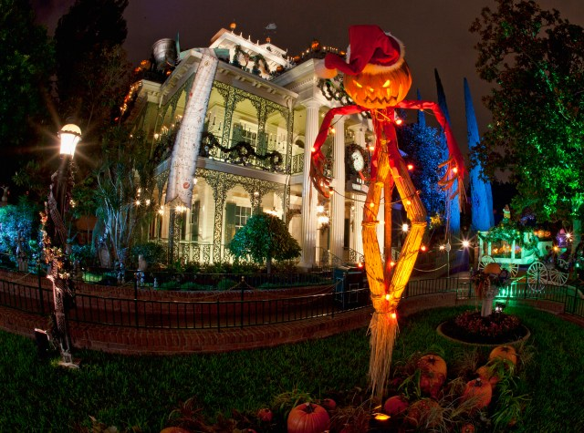 "HALLOWEEN TIME AT THE DISNEYLAND RESORT (ANAHEIM, Calif.) – Haunted Mansion Holiday brings the frightfully fun cheer of ""Tim Burton's Nightmare Before Christmas"" to the Disneyland Resort. The friendly spooks of Halloween Time return in 2016 from Sept. 9 through Oct. 31 along with fun seasonal décor, themed food and beverage offerings and attractions that get a special seasonal overlay for Halloween Time. (Paul Hiffmeyer/Disneyland)"
