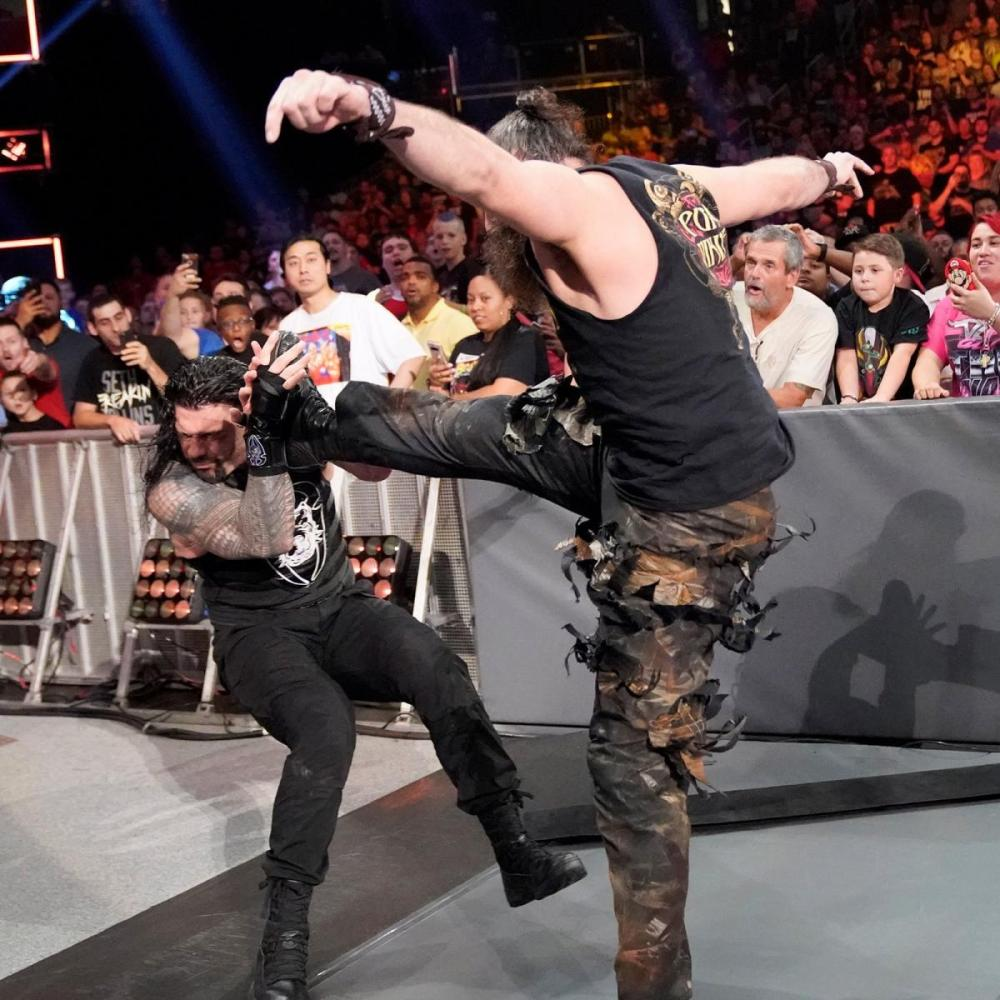 Luke Harper practicing his Karate Kid impression with The Big Dog Clash of Champions