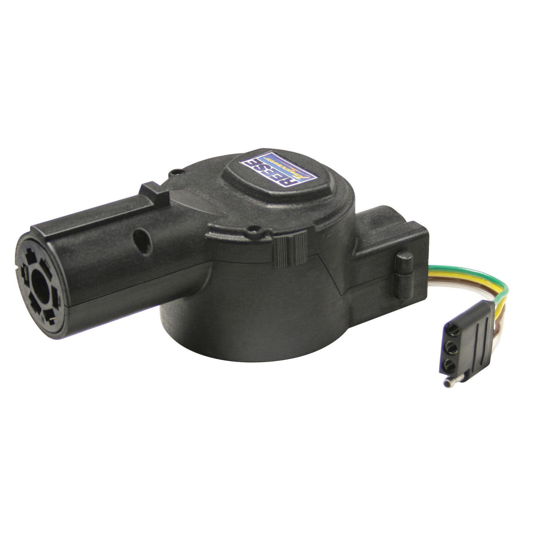 medium resolution of fulton 7 way round plug to 4 wire flat plug retractable trailer wiring adapter overton s