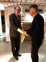 Stefan Wuotila tilldelas Svenska Fotbollförbundets Ungdomsledar diplom