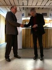 Christer Töyrä tilldelas Norrbottens Idrottsförbunds Silvermedalj samt Norrbottens Fotbollförbunds Guldmedalj
