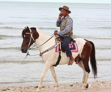 mobiel te paard
