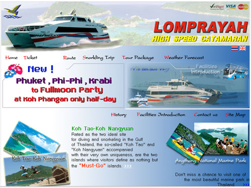 lomprayah website naar Ko Samui